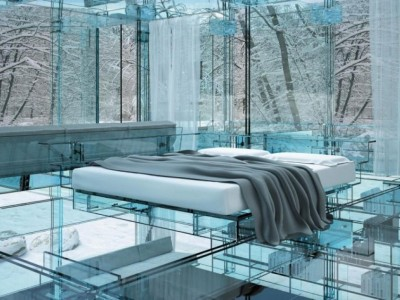 futuristic-bedroom-design-with-glass-floor-in-glass-ceiling-walls